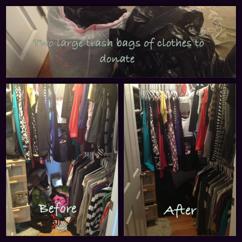 Project Closet.  Purged for the new year!
