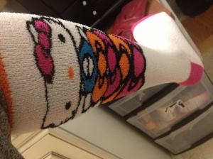 Hello Kitty socks FTW!