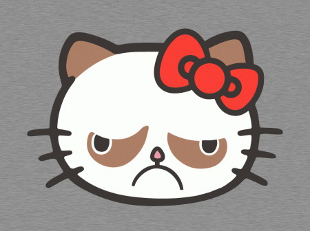 Grumpy Cat meets Hello Kitty