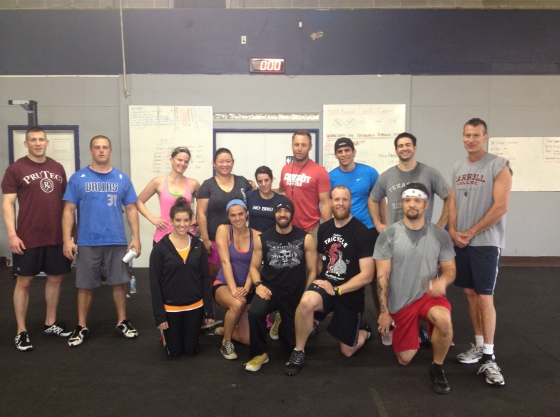 Ann and I (center) with the Crossfit Heat crew