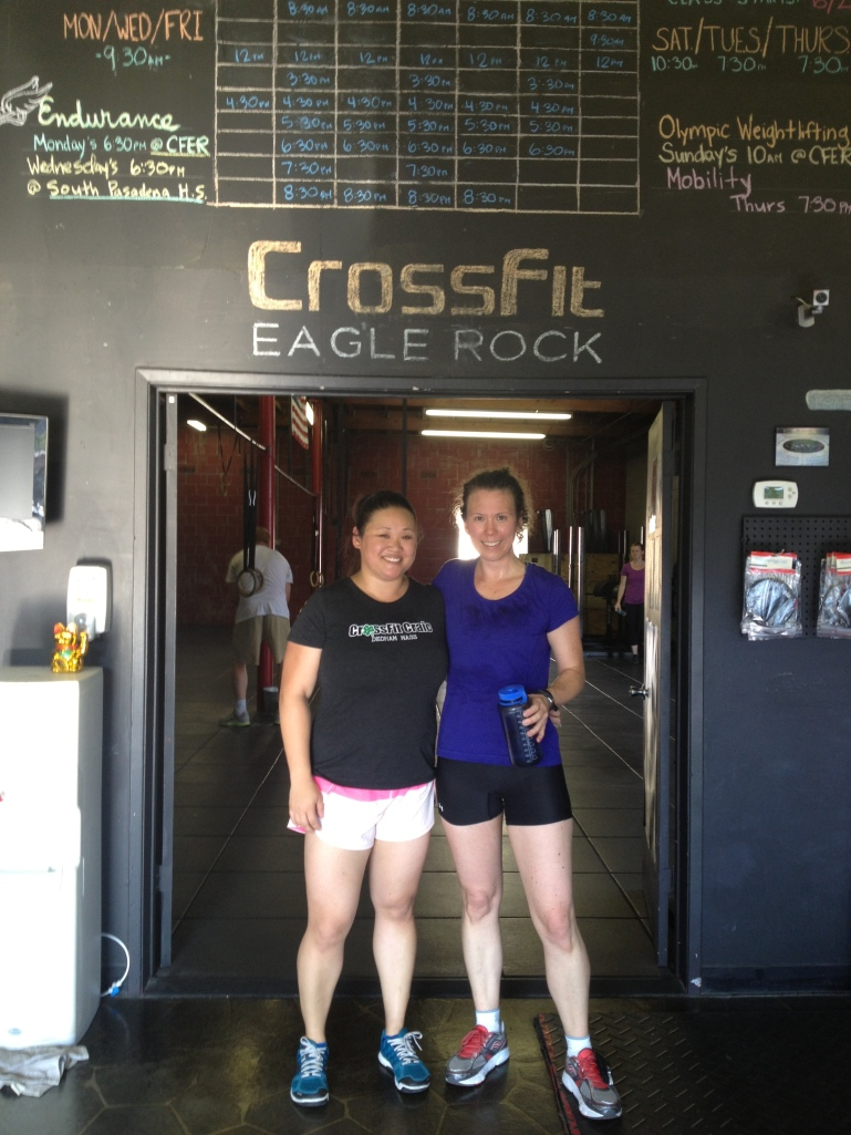 Leigh and I at Crossfit Eagle Rock