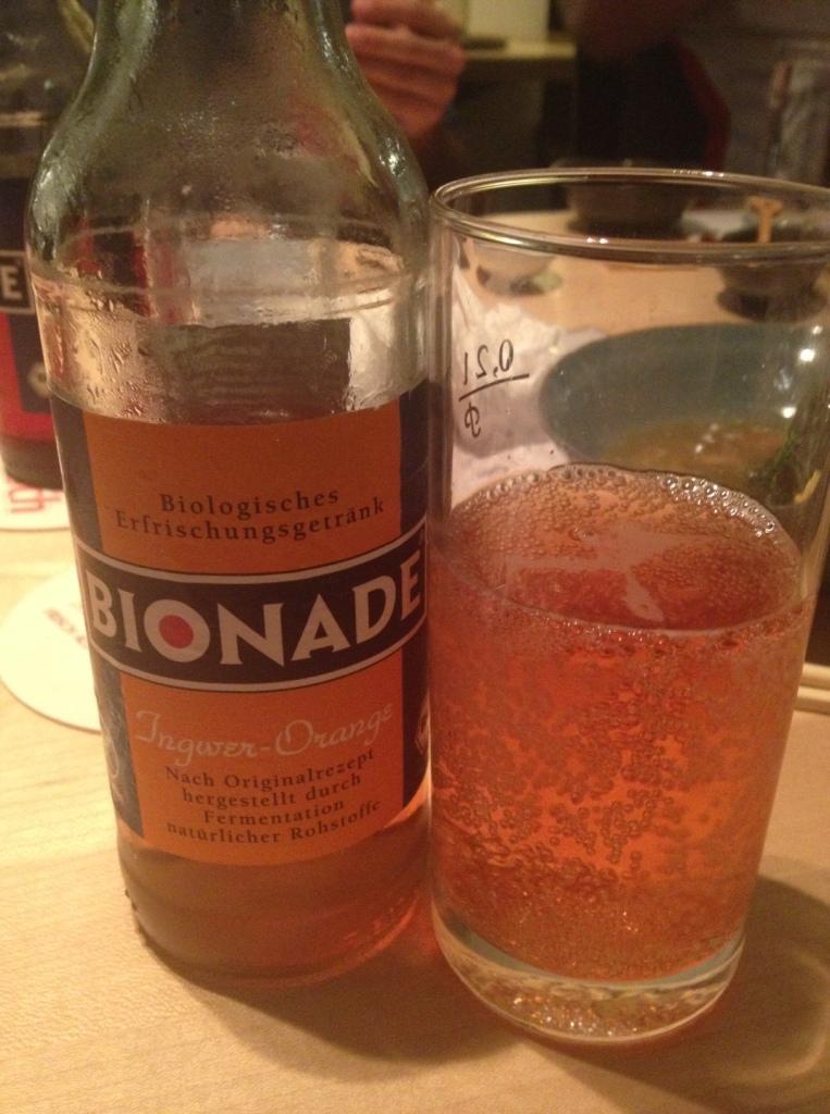 BIONADE.  Orange Ginger spritzer.