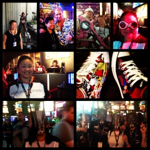 Montage of me at PAX Prime in Seattle, WA  My catwoman shoes are on the right.