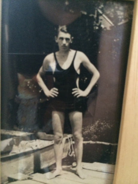 The original singlet.  My grandfather and the reflection of my iPhone cover with my cat on it...makesa good pair! #artsy
